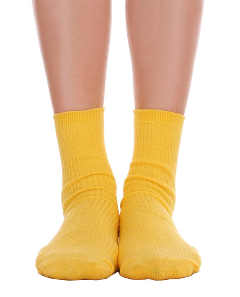 Solid Ankle Socks - Yellow - Piin | www.ShopPiin.com