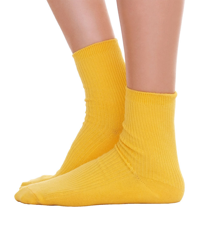 Solid Ankle Socks - Yellow - Piin | ShopPiin.com