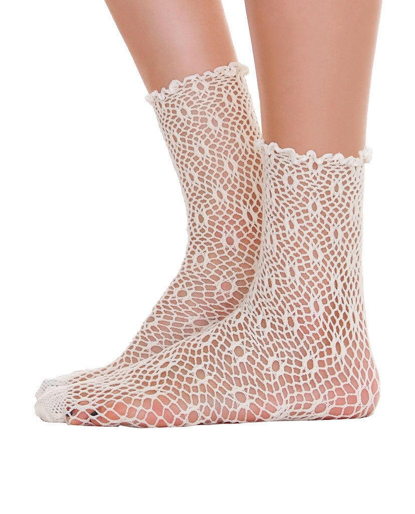 Lace Ankle Socks - Cream & Black - Piin | ShopPiin.com