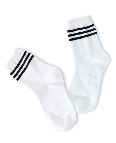 Your Way Socks - Black Stripes - Piin | ShopPiin.com