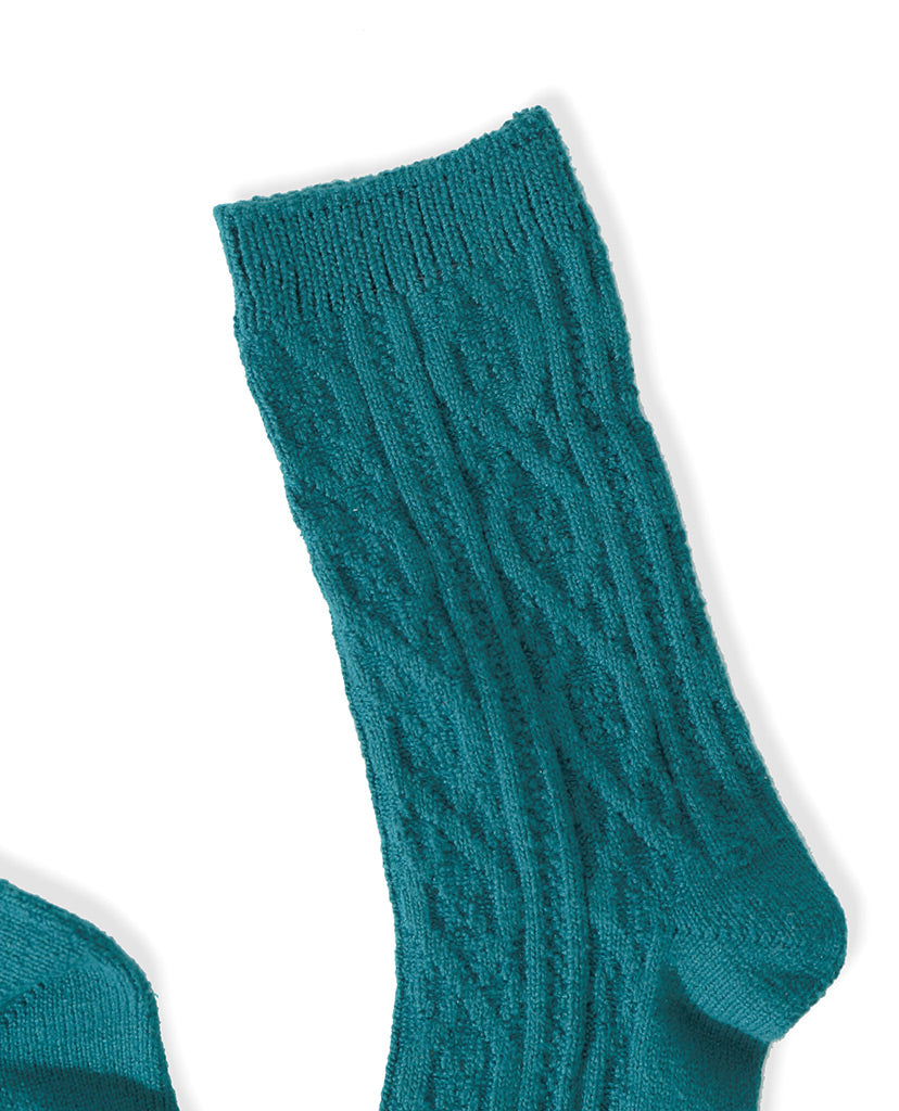 Cable Socks - Green - Piin | ShopPiin.com
