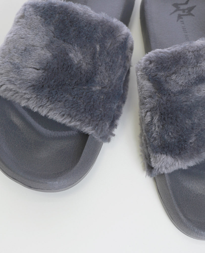 Cotton Candy Faux Fur Slippers LFL by Lust For Life - Piin | www.ShopPiin.com