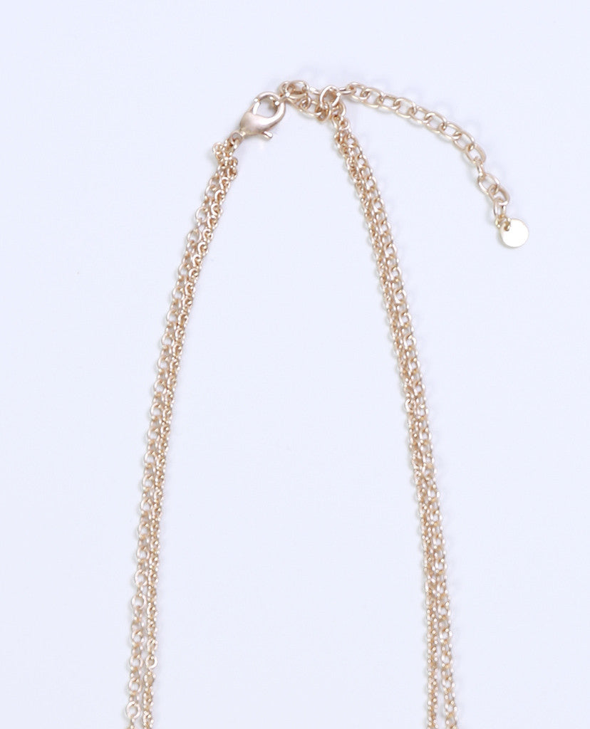 Soulmate Fringe Necklace - Gold/Gray - Piin | ShopPiin.com