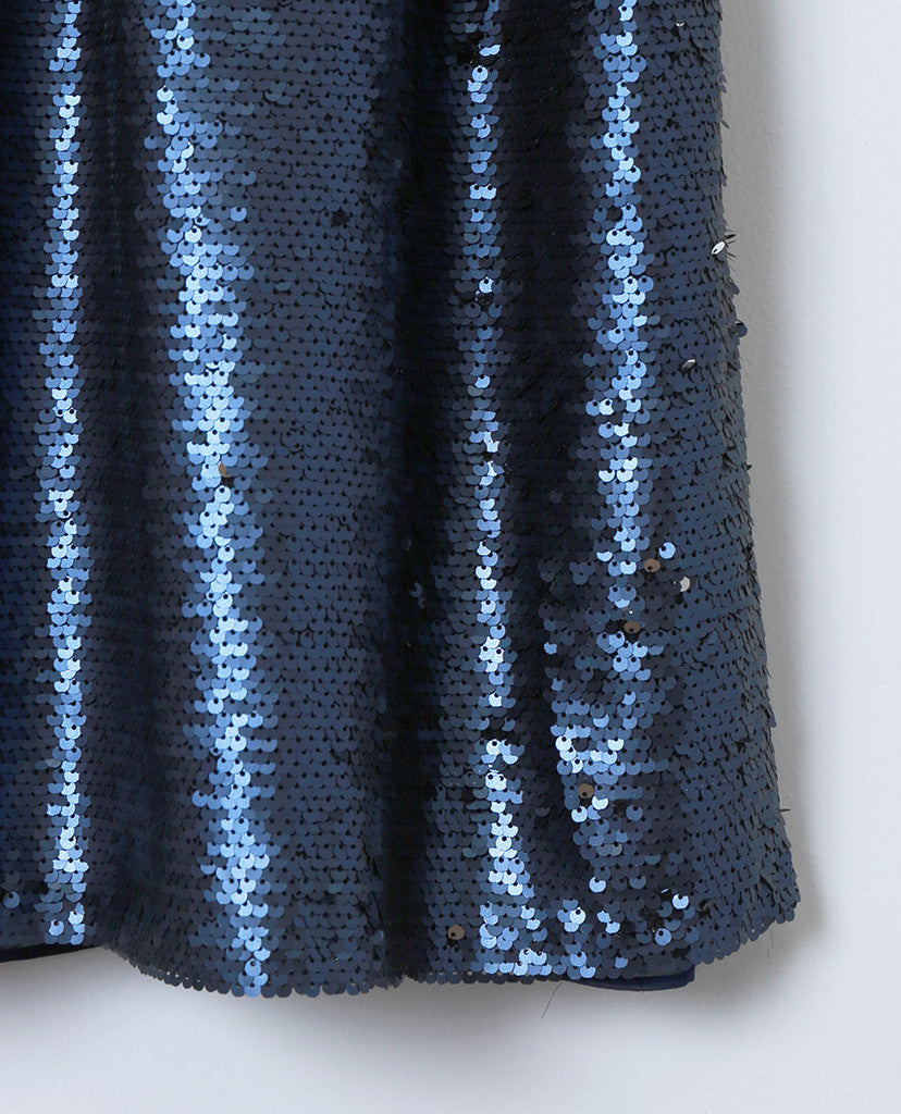 The Muse Mini-Dress - Blue Sequins - Piin | ShopPiin.com