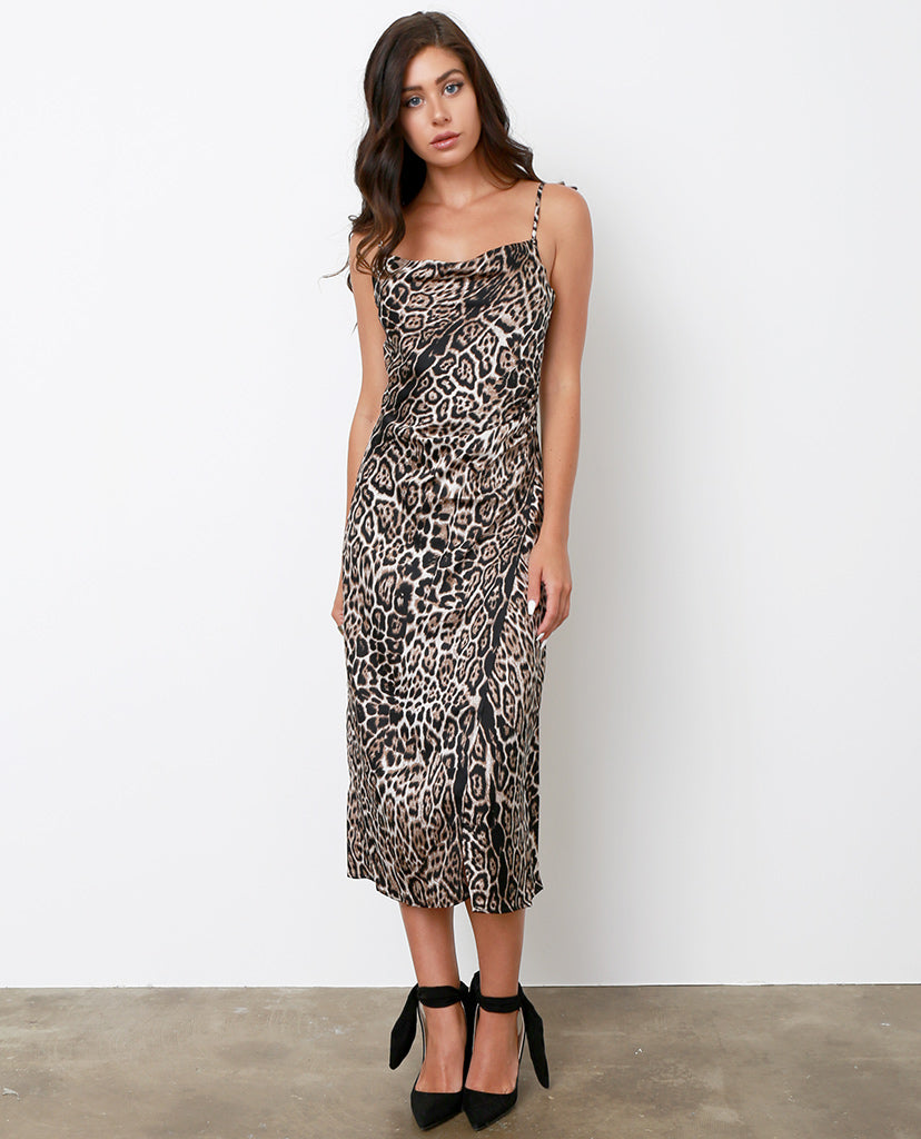 Amore Mio Slip Dress - Leopard - Piin | ShopPiin.com