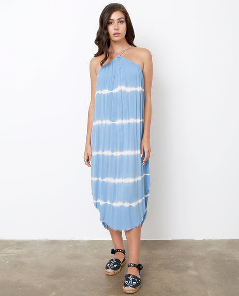 Up and Away Tie-Dye Dress - Blue/white - Piin | ShopPiin.com