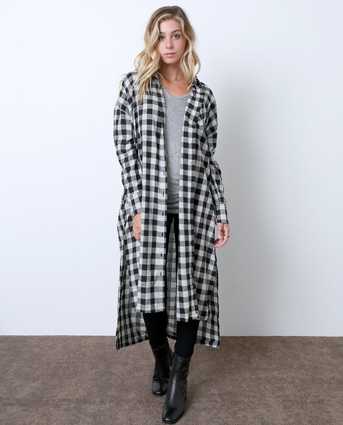 Checking Moment Plaid Shirt Dress - Piin | www.ShopPiin.com