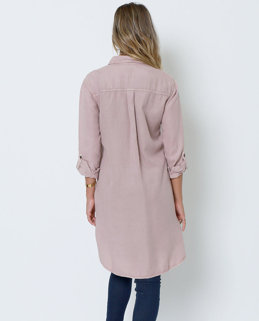 Kate's Shirt-Dress - Blush - Piin | ShopPiin.com