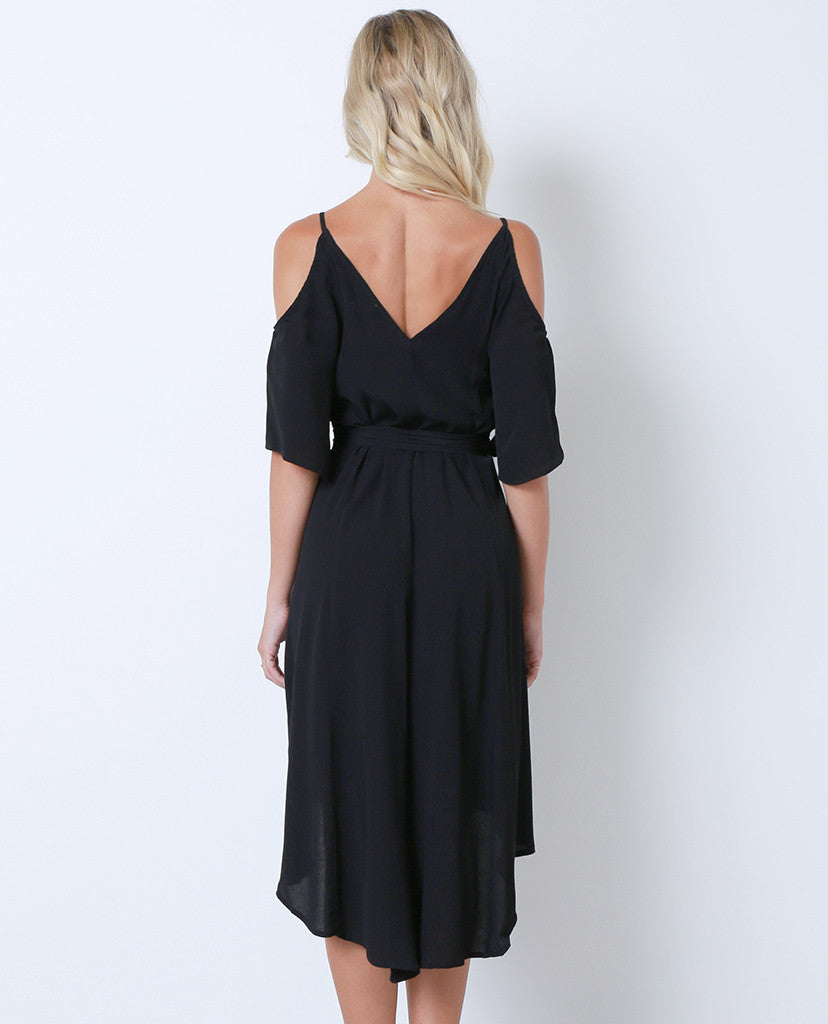 State Of Mind Wrap Dress - Black - Piin | ShopPiin.com