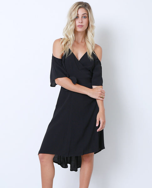 State Of Mind Wrap Dress - Black - Piin | www.ShopPiin.com