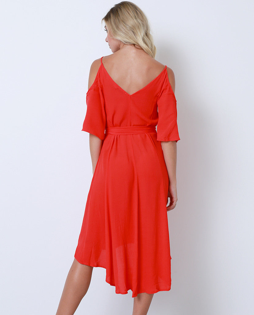 State Of Mind Wrap Dress - Red - Piin | ShopPiin.com