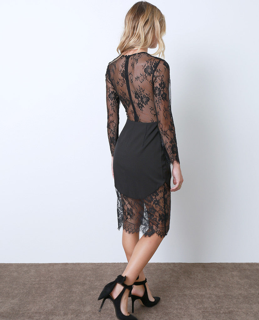 My Dream Lace Dress - Black - Piin | www.ShopPiin.com
