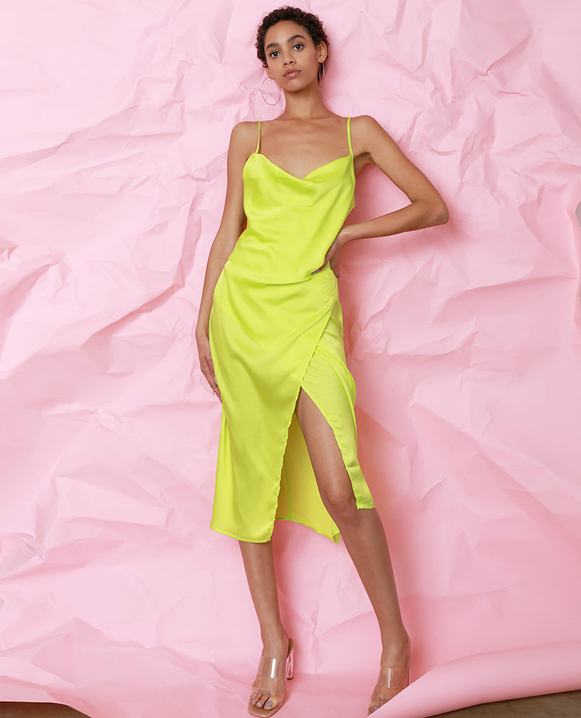 Amore Mio Slip Dress - Lime - Piin | ShopPiin.com