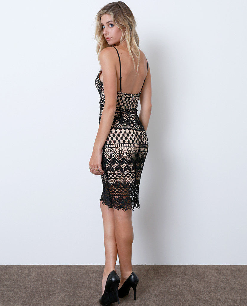 Breathtaking Lace Dress - Black/Nude - Piin | ShopPiin.com
