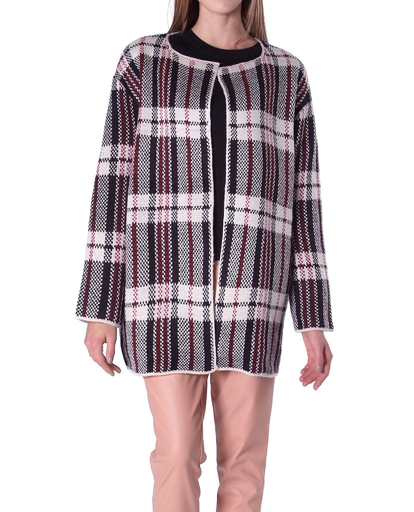 Check Point Sweater Coat - Piin | ShopPiin.com