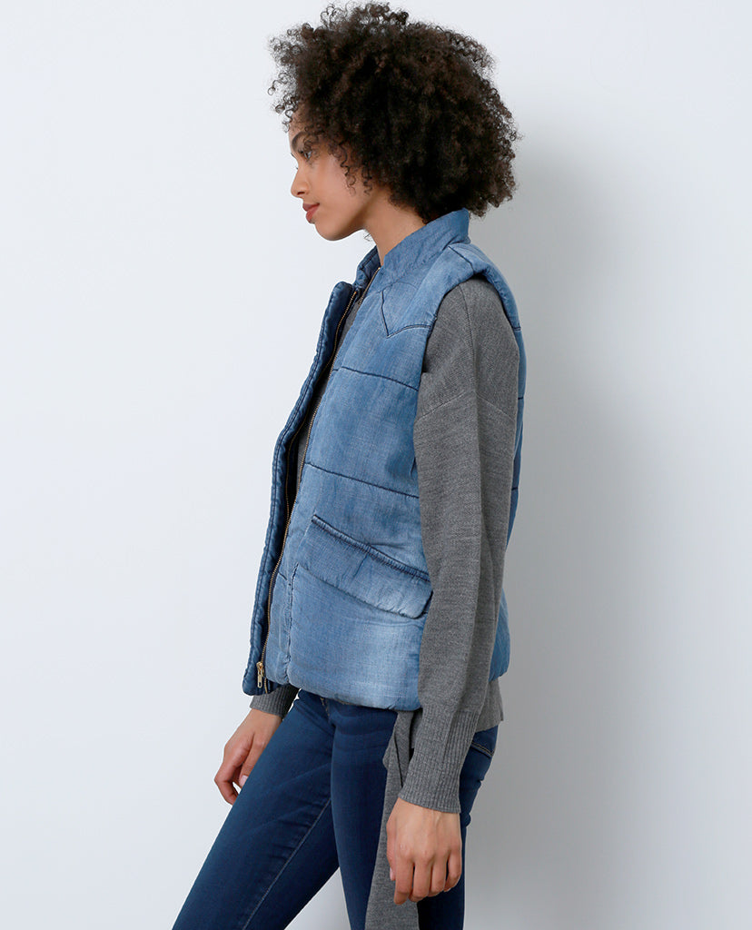 Back In Mind Denim Vest - Blue - Piin | ShopPiin.com
