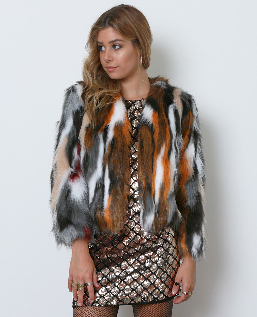 Ciao Faux Fur Coat - Piin | ShopPiin.com