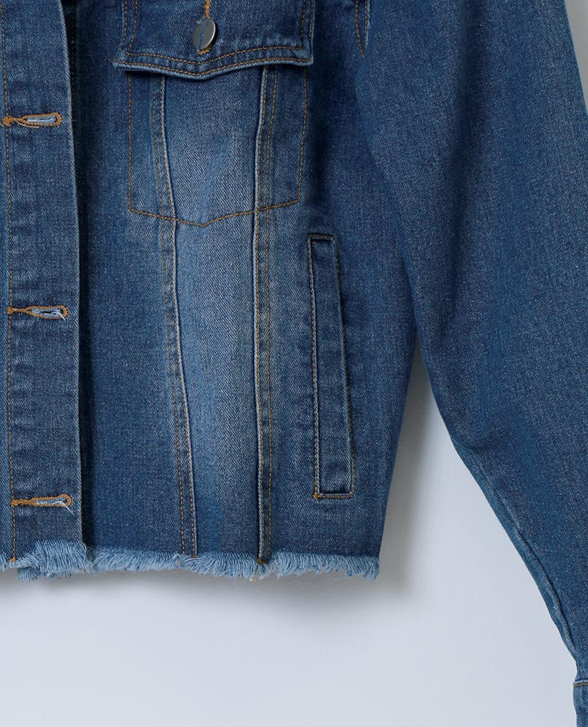 Style Maker's Denim Jacket - Blue - Piin | ShopPiin.com