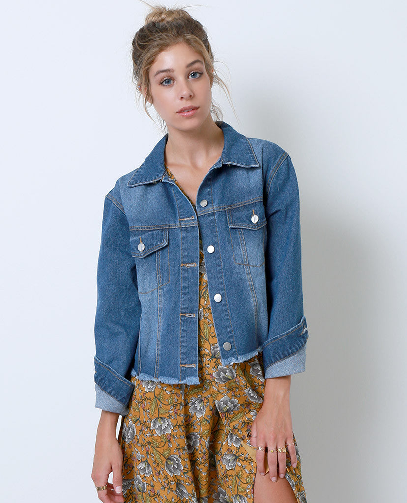 Style Maker's Denim Jacket - Blue - Piin | www.ShopPiin.com