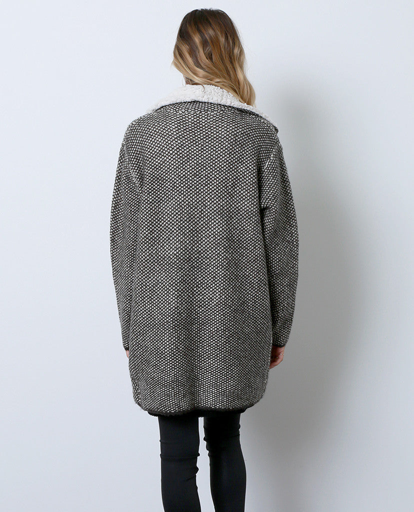 Go To Sweater Coat - Gray - Piin | ShopPiin.com