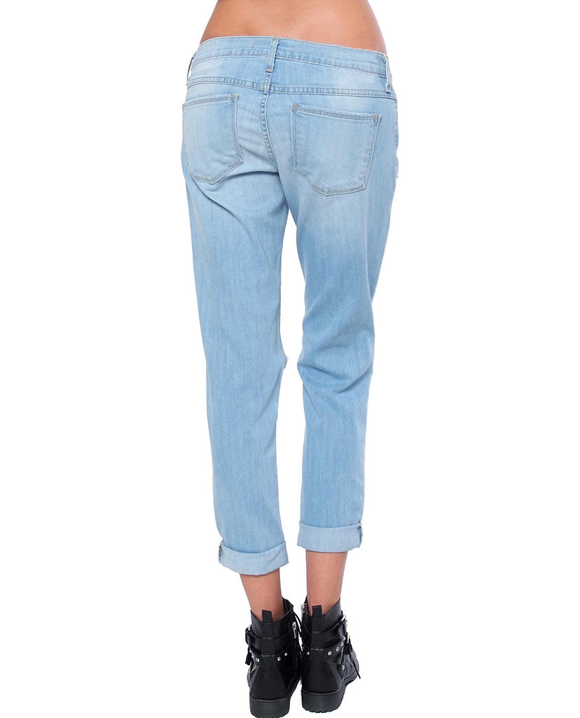 Tears In Heaven Boyfriend Denim Jeans - Piin | ShopPiin.com
