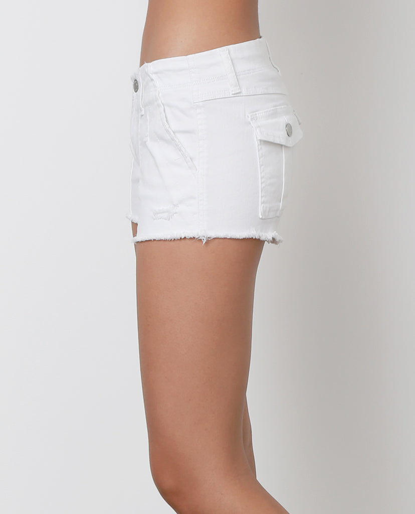 Jules denim Shorts - White - Piin | ShopPiin.com