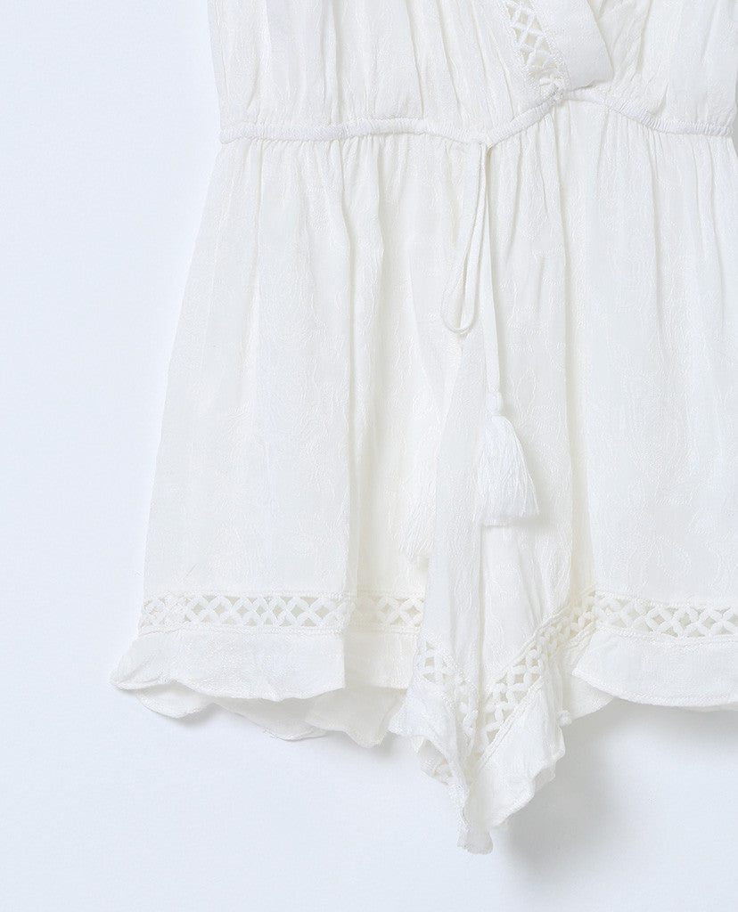 White Out Romper  - White Lace - Piin | ShopPiin.com