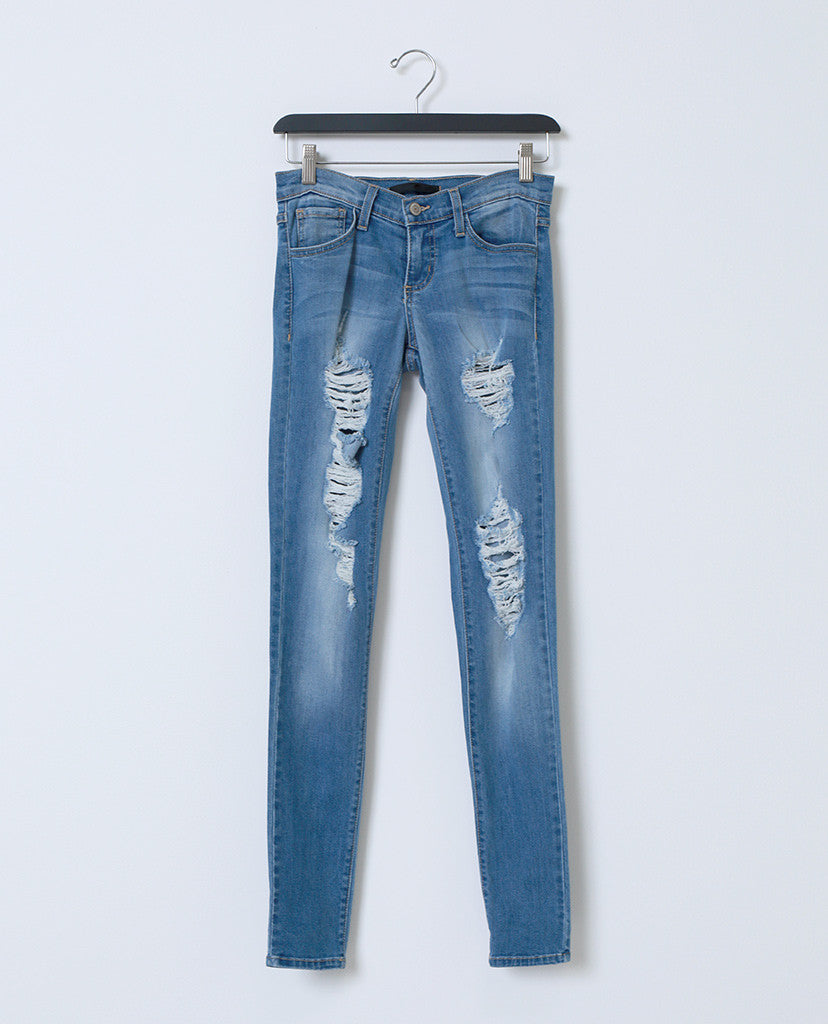 Keep Up With Skinny Jean - Distressed Denim