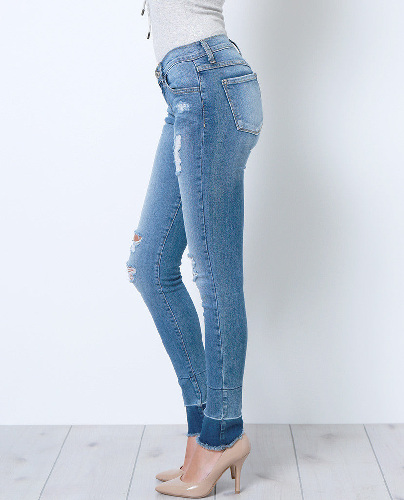 New Code Skinny Denim Jeans - Distressed - Piin | ShopPiin.com