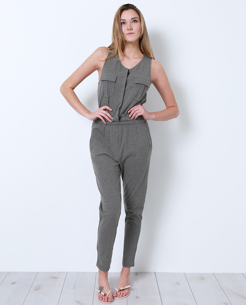 Full Time Duty Jumpsuit - Olive Gray - Piin | ShopPiin.com