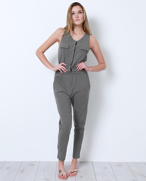 Full Time Duty Jumpsuit - Olive Gray - Piin | www.ShopPiin.com