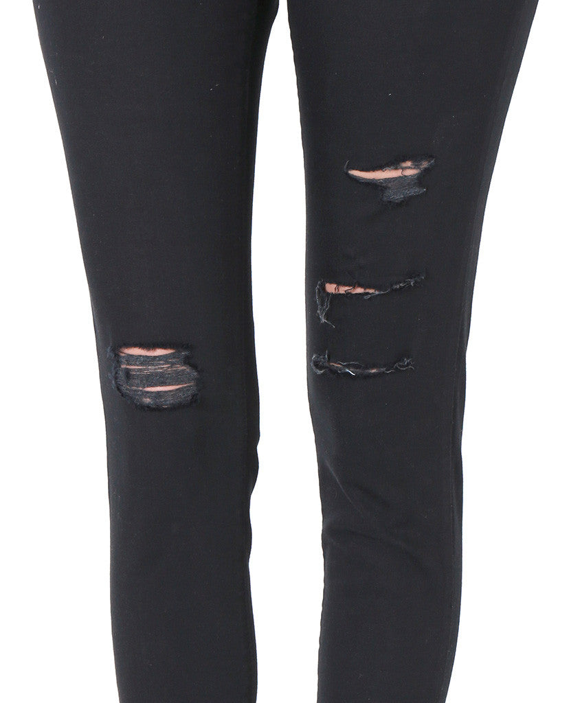 Running Into Skinny Denim Jeans - Black - Piin | ShopPiin.com