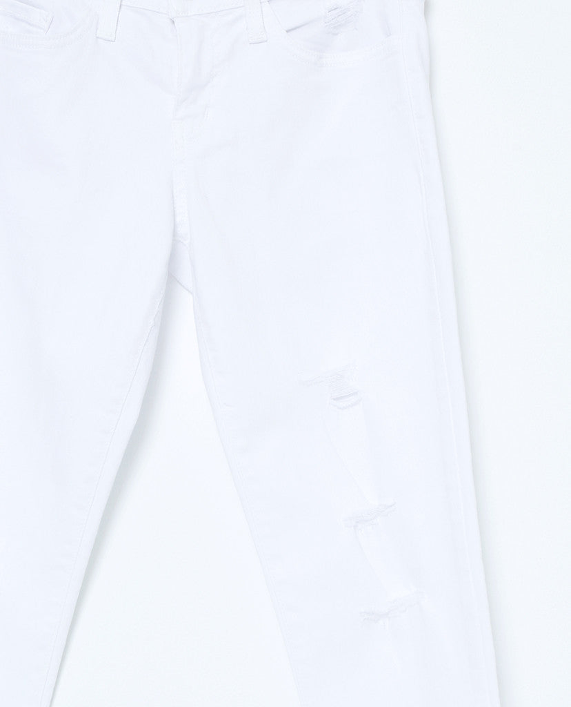 Running Into Skinny Denim Jeans - White - Piin | ShopPiin.com
