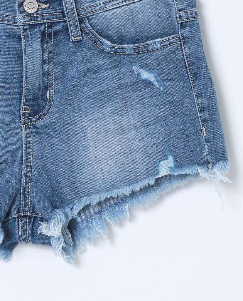 Long Story Short Denim Shorts - Distressed - Piin | ShopPiin.com