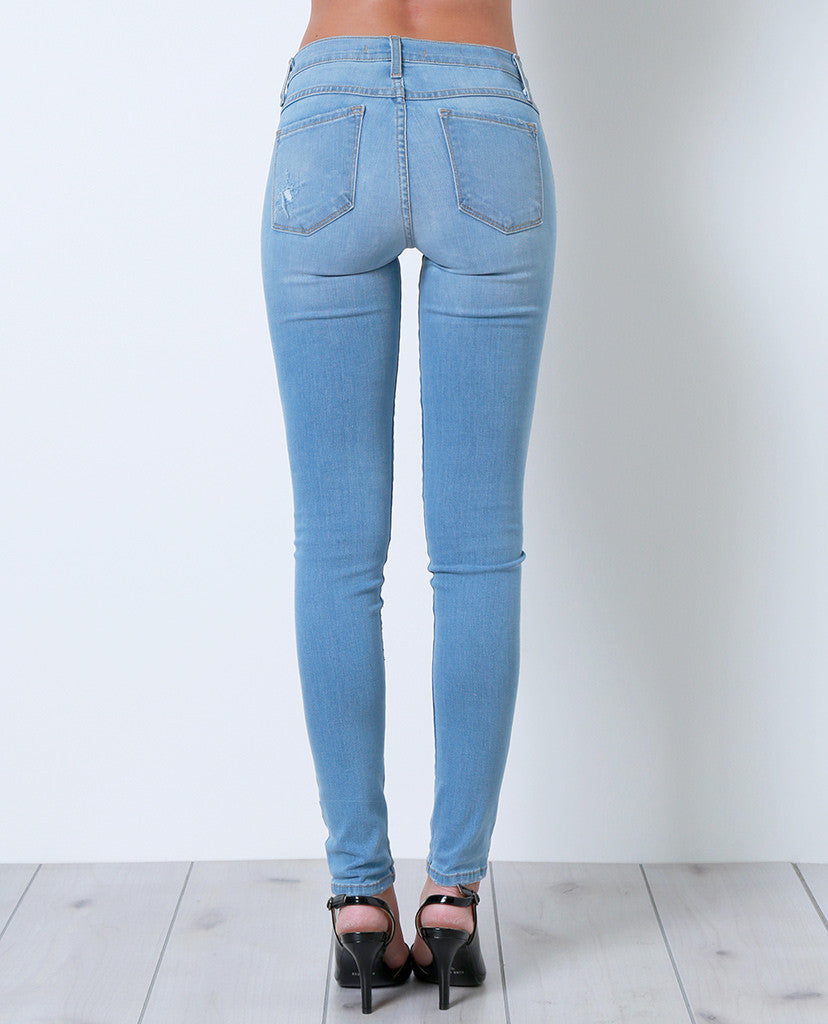 One Direction Skinny Denim Jeans - Distressed - Piin | ShopPiin.com