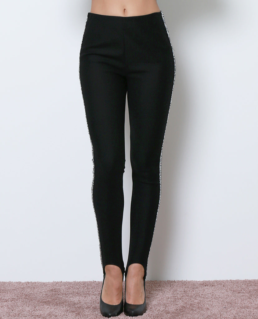 Ellie Stirrup Leggings - Black/Silver - Piin | ShopPiin.com