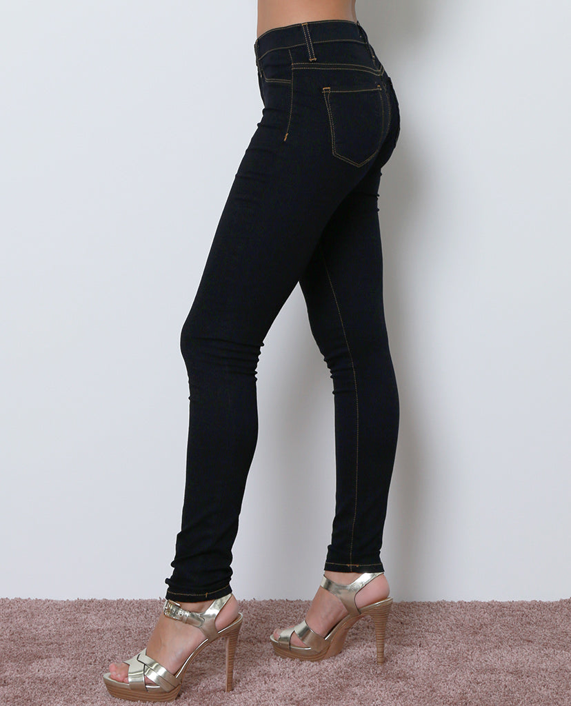 Mile High-Rise Denim Jeggings - Dark Blue - Piin | ShopPiin.com