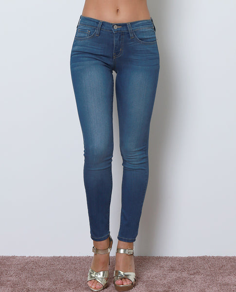 Lucie Skinny Denim Jeans - Blue