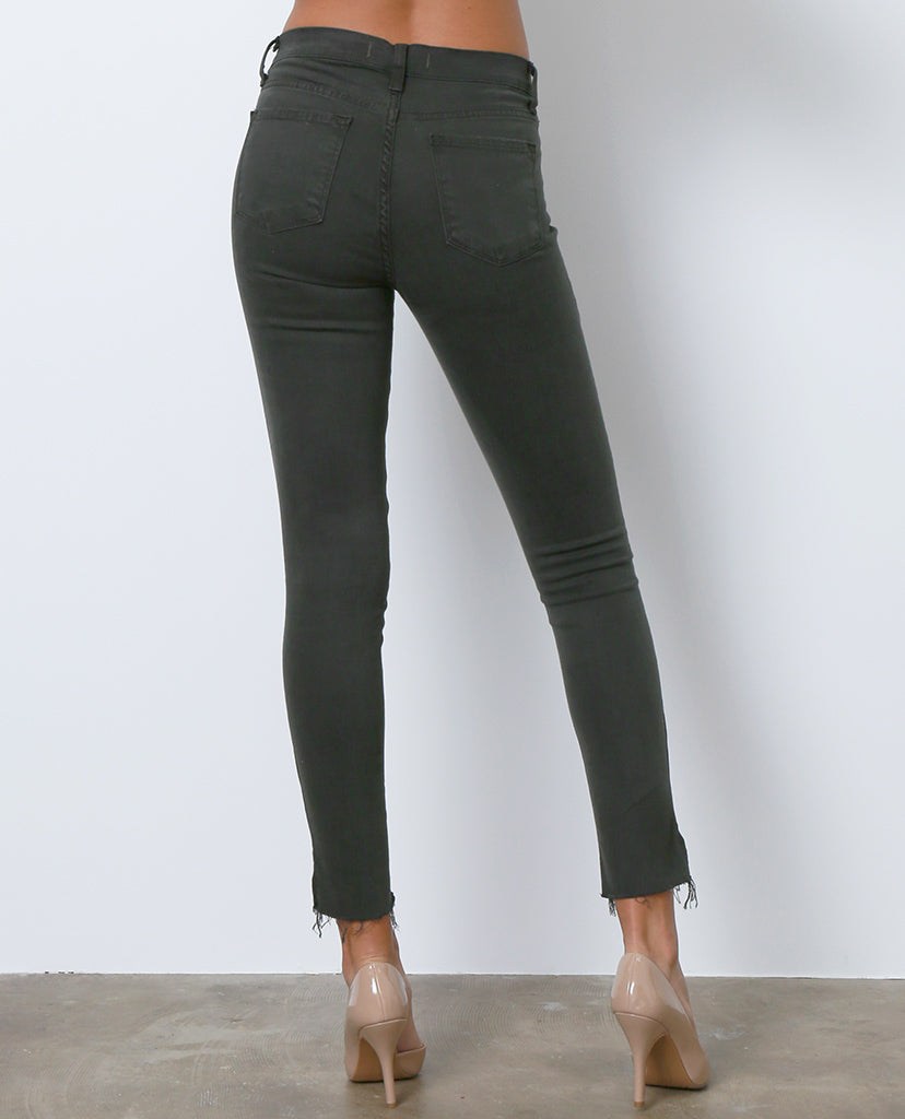 Look Better Skinny Denim Jeans - Olive