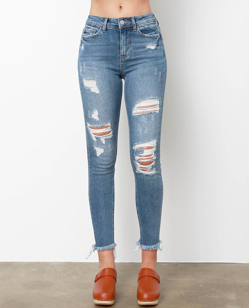 All Over Again Skinny Jeans - Denim Blue - Piin | ShopPiin.com