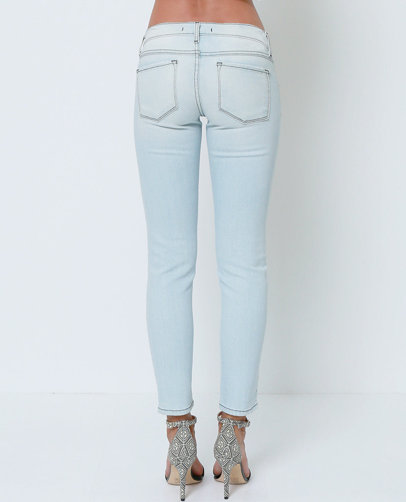 Break Time Distressed Cropped Skinny Jeans - Piin | ShopPiin.com