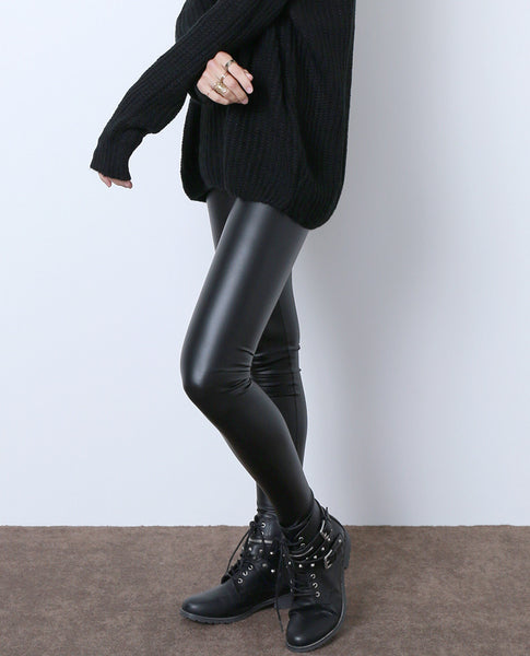 Real Things Faux Leather Leggings - Black - Piin | ShopPiin.com