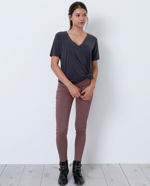 They Got It Right Stirrup Denim Jeggings - Mauve - Piin | ShopPiin.com