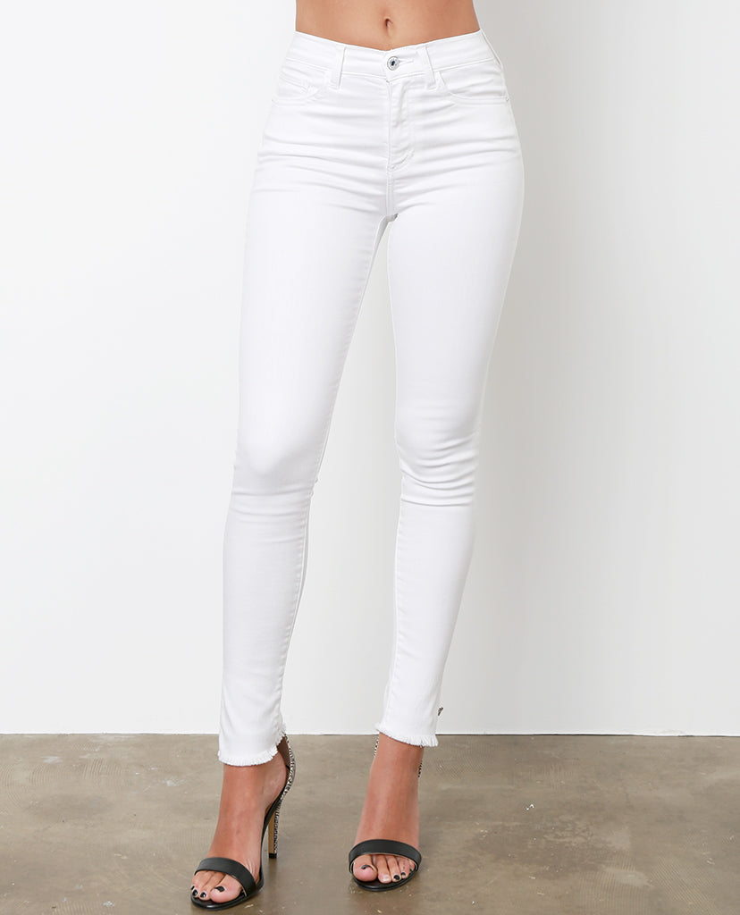 Best Time White Skinny Jeans High-Waist - Piin | ShopPiin.com