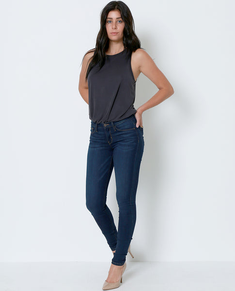All Time Favorite High Rise Skinny Denim Jeans - Blue - Piin | ShopPiin.com
