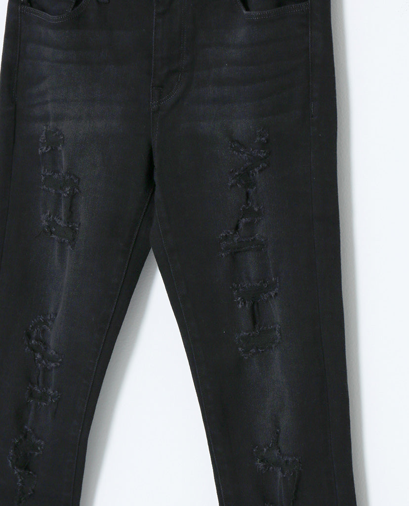 Spotless Mind Black Denim Distressed Skinny Jeans