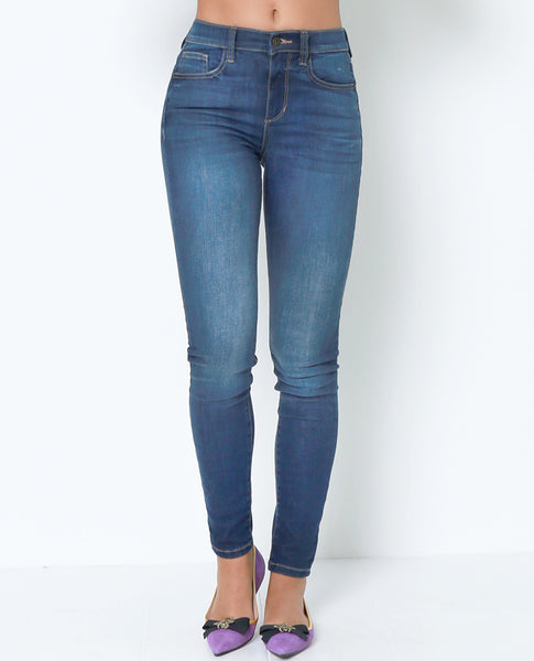 Stepping Out Skinny Jeans - Blue Denim - Piin | ShopPiin.com