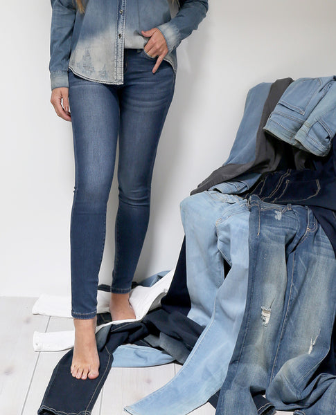 Aria Skinny Jeans - Blue Denim