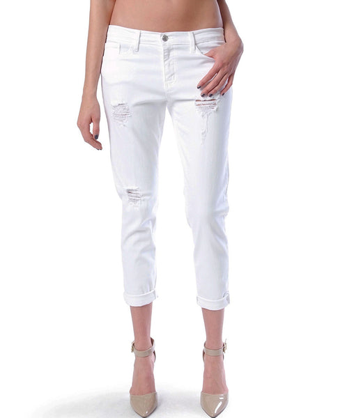 Love Affair Boyfriend Denim Jeans - White Distressed - Piin | ShopPiin.com