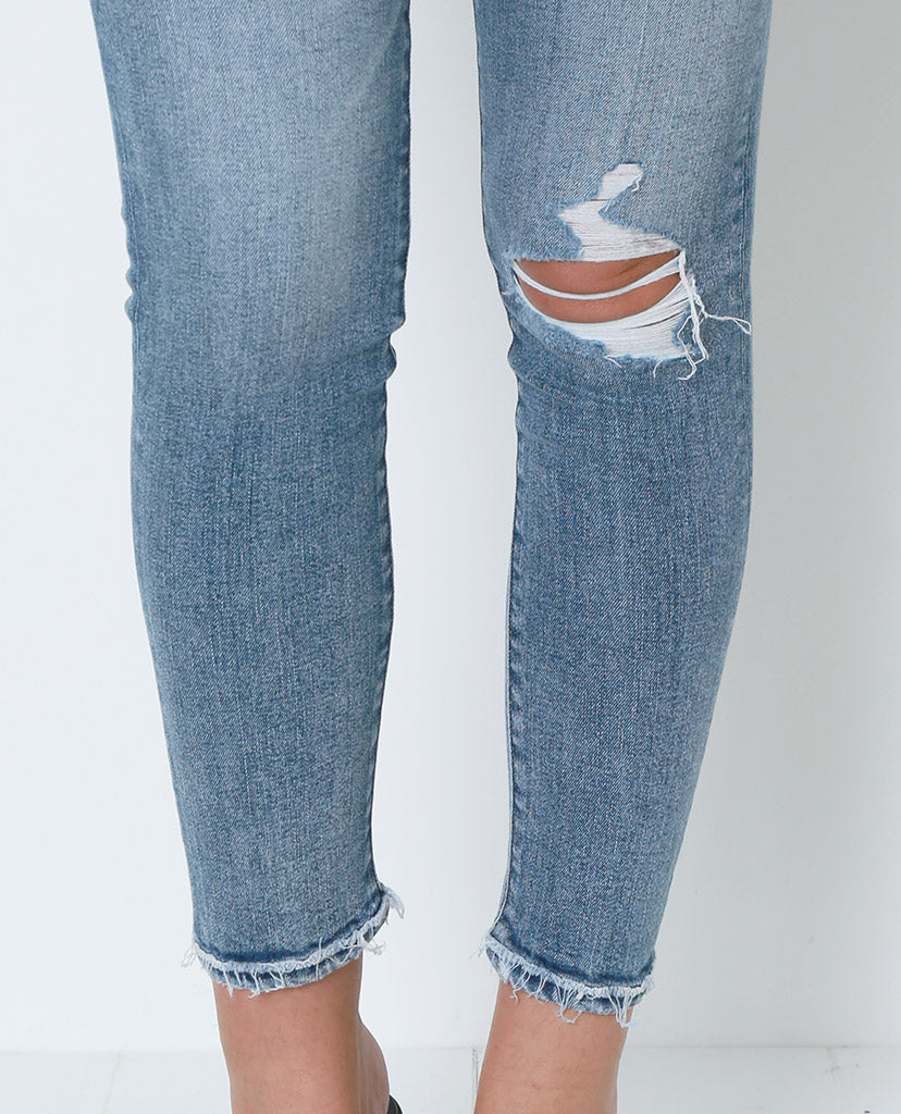 Just In Case Distressed Skinny Denim Jeans - Blue